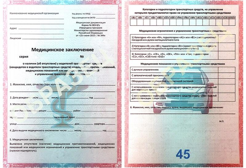 Медицинская справка водительские права где получить в Москве Молжаниновский